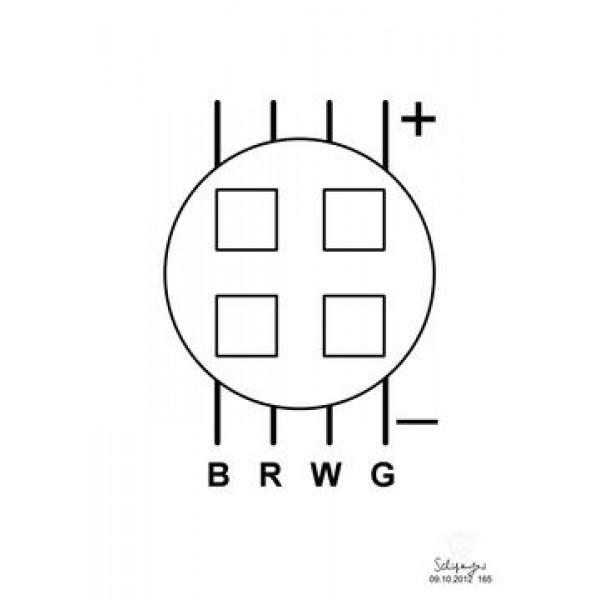 Светодиодная сборка 8W RGBW для Pix-8/Pix-16