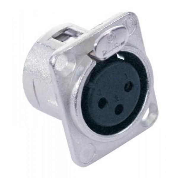 Разъем NEUTRIK XLR mounting socket 3pin NC3FDL-1