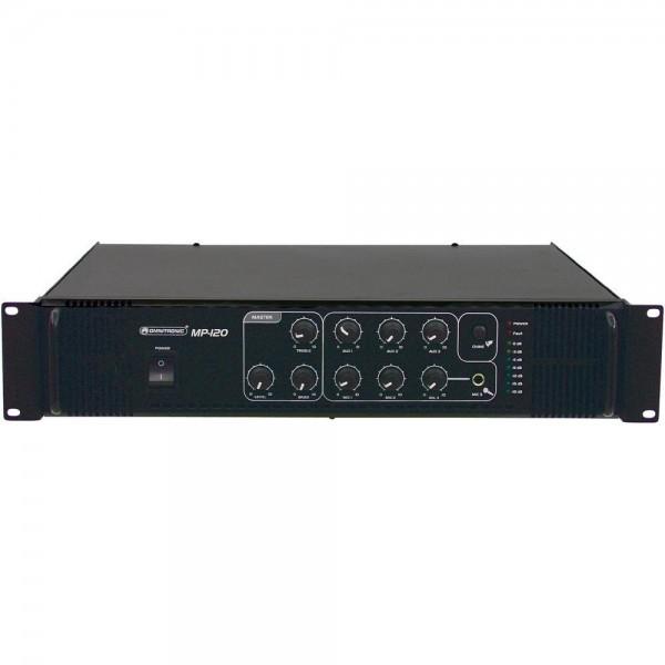 Трансляционный микшер-усилитель мощности Omnitronic MP-120 PA