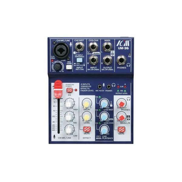 Микшерный пульт со встроенным USB аудиоинтерфейсом ICM UM36